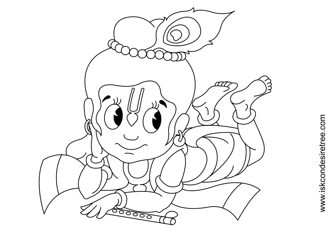 gallery - iskcon desire tree - Baby Krishna Images Coloring Pages